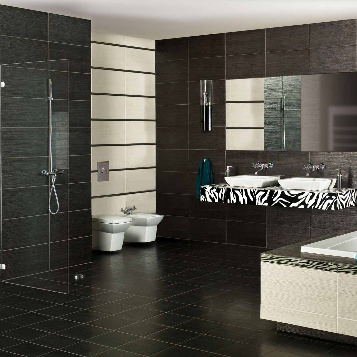 Metallic Black Porcelain Tile - Crown Tiles