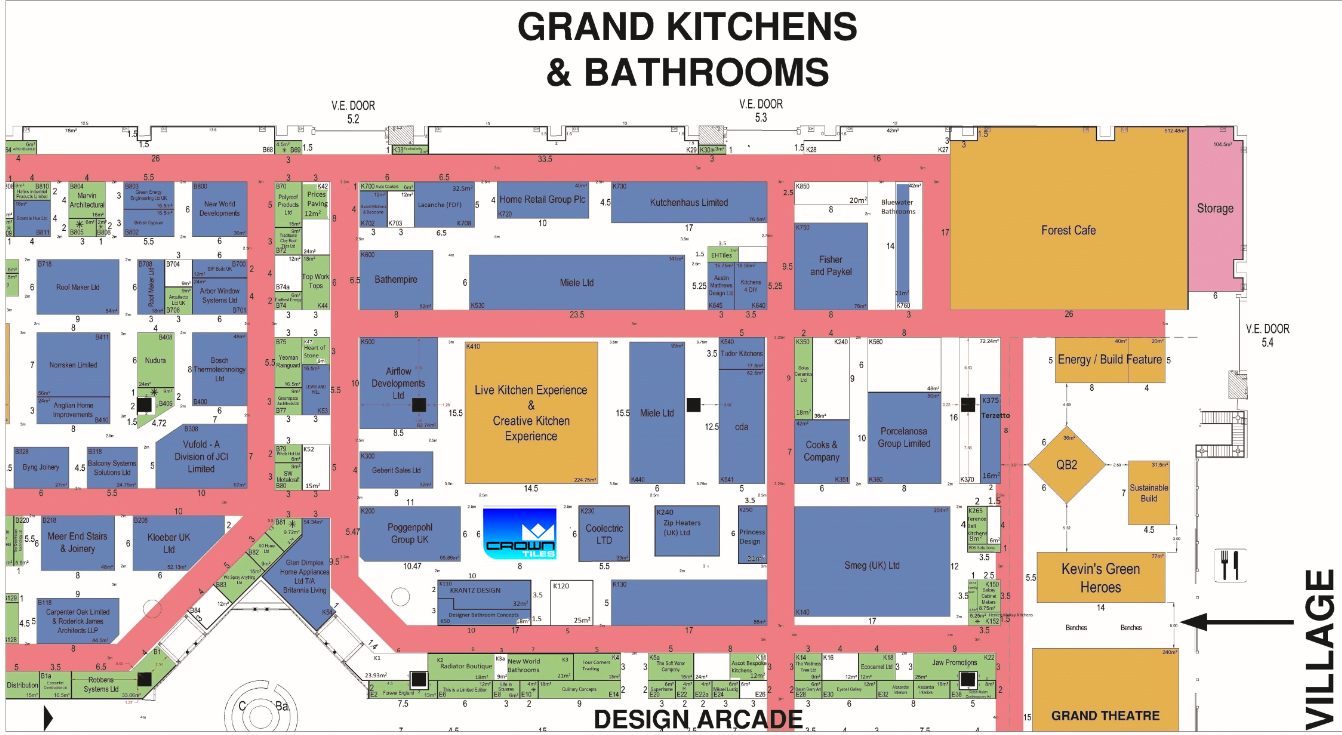 Map Of Grand Designs Live 2014