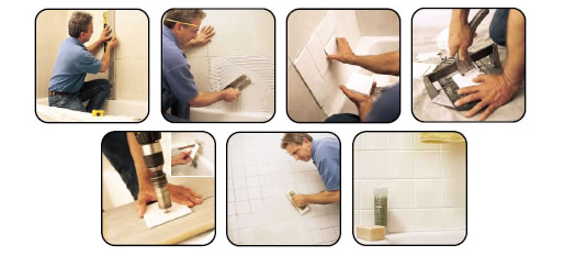 Step-By-Step Wall Tiling
